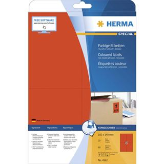 HERMA Universal-Etiketten SPECIAL, 105 x 148 mm, rot