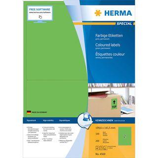 HERMA Universal-Etiketten SPECIAL, 199,6 x 143,5 mm, grün