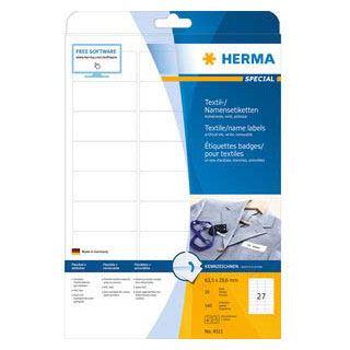 HERMA Namens-Etiketten SPECIAL, 63,5 x 29,6 mm, weiß