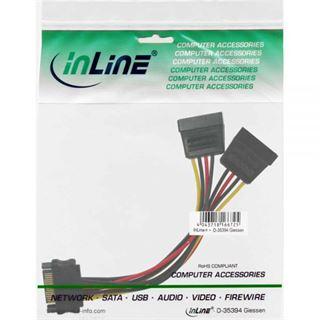 (€16,33*/1m) 0.30m InLine SATA Y-Stromadapterkabel SATA Strom