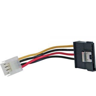 (€26,00*/1m) 0.15m InLine SATA Stromadapterkabel 4pol Buchse auf