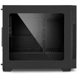 Sharkoon S1000 mit Sichtfenster Mini Tower ohne Netzteil schwarz