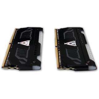 16GB Patriot Viper LED rot DDR4-2666 DIMM CL15 Dual Kit