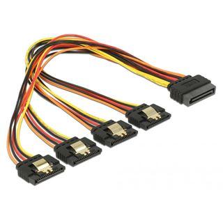 0.30m Delock Strom Adapterkabel SATA SATA Stecker auf 4xSATA Buchse