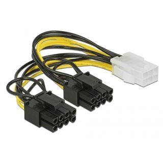 (€32,67*/1m) 0.15m Delock Strom Adapterkabel 6pol PCIe Buchse