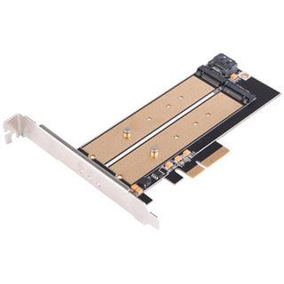 Silverstone SST-ECM22 2x M.2 Schnittstellenkarte, PCIe