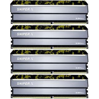 32GB G.Skill SniperX Digital Camouflage DDR4-2400 DIMM CL17 Quad Kit