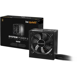 500 Watt be quiet! System Power 9 Non-Modular 80+ Bronze