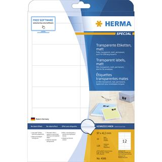 HERMA Folien-Etiketten SPECIAL, 97 x 42,3 mm, transparent