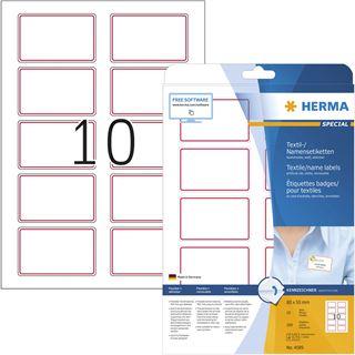 HERMA Namens-Etiketten SPECIAL, 80,0 x 50,0 mm, roter Rand