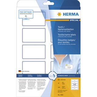 HERMA Namens-Etiketten SPECIAL, 80,0 x 50,0 mm, blauer Rand