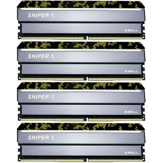 32GB G.Skill SniperX Digital Camouflage DDR4-3200 DIMM CL16 Quad Kit