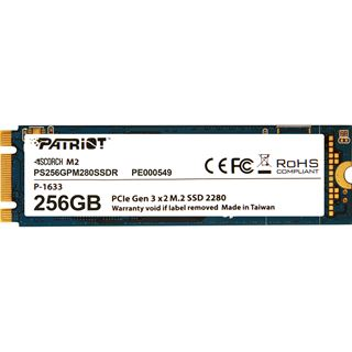 256GB Patriot Scorch M.2 2280 PCIe NVMe 3.0 x2 (PS256GPM280SSDR)