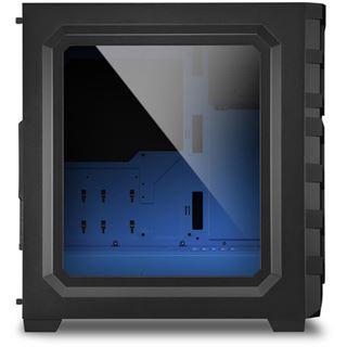 Sharkoon Skiller SGC1 mit Sichtfenster Midi Tower ohne Netzteil
