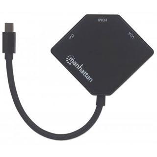 Manhattan 3-in-1 Mini-DisplayPort-Adapter 4K HDMI/DVI/VGA