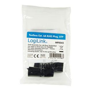LogiLink RJ45-Steckverbinder Kat.6A, TA568A, ungeschirmt