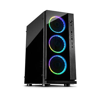 Inter-Tech W-III RGB mit Sichtfenster Midi Tower ohne Netzteil schwarz
