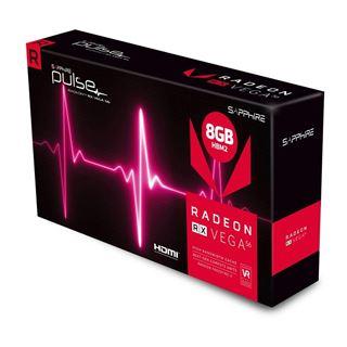 8GB Sapphire Radeon RX Vega 56 Pulse Aktiv PCIe 3.0 x16 1xHDMI 2.0 /