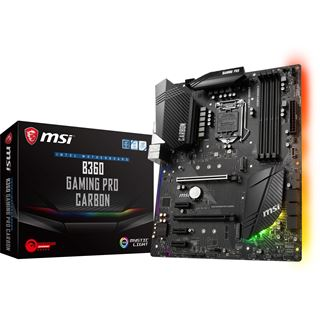 MSI B360 GAMING PRO CARBON Intel B360 So.1151 Dual Channel DDR4 ATX