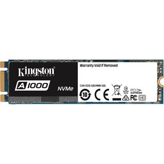 960GB Kingston A1000 M.2 2280 PCIe NVMe 3.0 x2 3D-NAND TLC