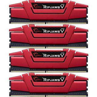32GB G.Skill RipJaws V rot DDR4-2666 DIMM CL19 Quad Kit