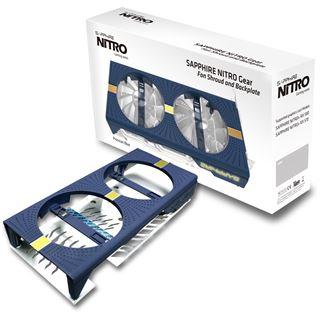 Sapphire Nitro Gear Cooler Shroud+Backplate Lite blau