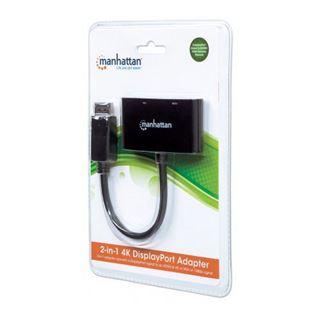 Manhattan 2-in-1 4K DisplayPort-Stecker auf HDMI/VGA-Buchse passiv