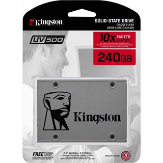 "240GB Kingston SSDNow UV500 2.5"" (6.4cm) SATA 6Gb/s 3D-NAND TLC"