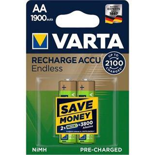 VARTA Endless Energy Akku Mignon AA 1.900 mAh 2er Pack
