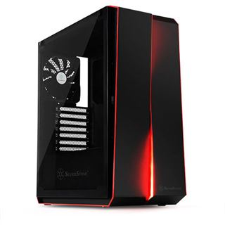 Silverstone SST-RL07B-G Redline Midi-Tower, Tempered Glass - schwarz