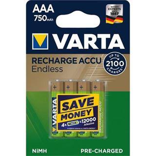 Akku VARTA NiMH, Micro, AAA, HR03, 1.2V/750mAh 4-Pack