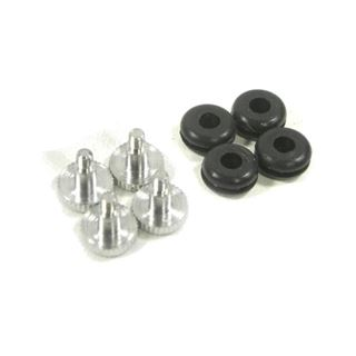 Dimas Tech Hard Disk Anti-Vibration 6/32 Kit, Screw+Rubber - schwarz