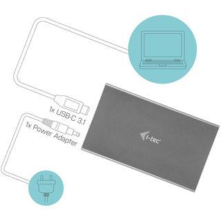 I-TEC USB-C 3.1 Gen. 2 MySafe Festplattengehaeuse fuer 8,9cm 3,5Zoll