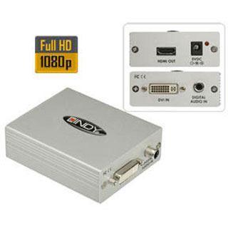 DVI Lindy + SPDIF an HDMI Converter DVI-D + Digital Coaxial SPDIF