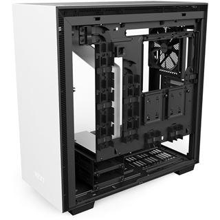 NZXT H700 mit Sichtfenster Midi Tower ohne Netzteil weiss/schwarz
