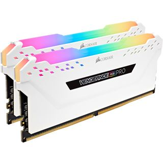16GB Corsair Vengeance RGB PRO weiß DDR4-3000 DIMM CL15 Dual Kit