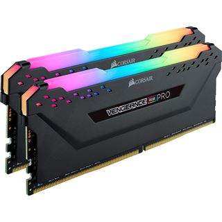 16GB Corsair Vengeance RGB PRO schwarz DDR4-3200 DIMM CL16 Dual Kit