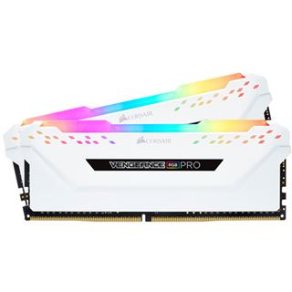 16GB Corsair Vengeance RGB PRO weiß DDR4-3200 DIMM CL16 Dual Kit