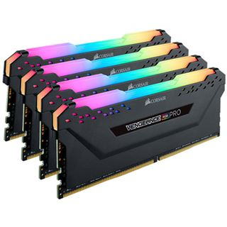 32GB Corsair Vengeance RGB PRO schwarz DDR4-3000 DIMM CL15 Quad Kit
