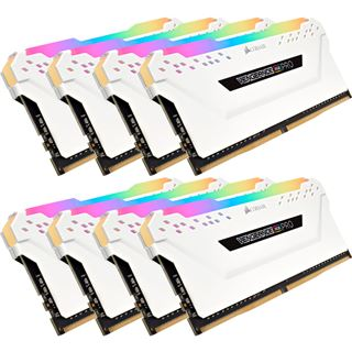 64GB Corsair Vengeance RGB PRO weiß DDR4-2666 DIMM CL16 Octa Kit