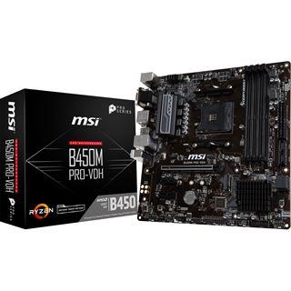 MSI B450M Pro-VDH AMD B450 So.AM4 Dual Channel DDR4 mATX Retail