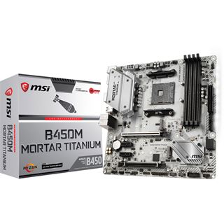 MSI B450M MORTAR TITANIUM AMD B450 So.AM4 Dual Channel DDR mATX Retail