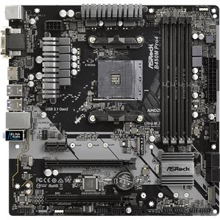ASRock B450M Pro4 AMD B450 So.AM4 Dual Channel DDR4 mATX Retail