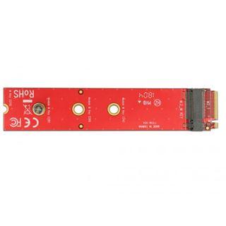 Delock Adapter M.2 KeyM St > M.2 KeyM Slot Portschoner