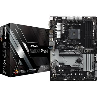 ASRock B450 Pro4 AMD B450 So.AM4 Dual Channel DDR4 ATX Retail