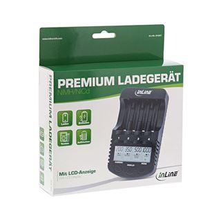 InLine Premium Schnell-Ladegerät, NiCd+NiMH AA und AAA, bis