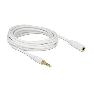 Delock Kabel Klinke 3 Pin Verlängerung 3,5 mm Stecker >