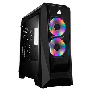 Azza Chroma 410B GAMING Miditower 2xDigital RGB-Lü W7P schwarz