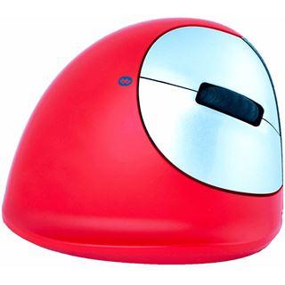 R-GO Tools HE Maus ergonomic sport Mouse medium Rechts BT rot