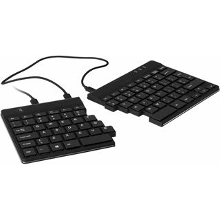 R-GO Tools Split Tastatur Nordic-Layout schwarz